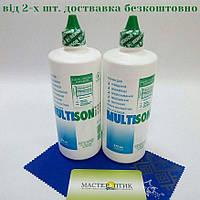 Набір з двох флаконіврозчину для контактних лінз Multison, 375 мл., фото 1
