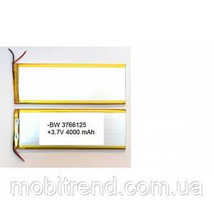 Аккумулятор универсальный 3766125P 12,5cm х 6,6cm 3,7v 3500mAh
