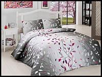 Комплект постельного белья First Choice бязь Leaf fusya семейка (kod 3743)