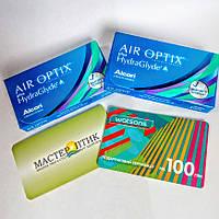 100 грн +набір із шістьома контактними лінзами Alcon, Air Optix plus HydraGlyde