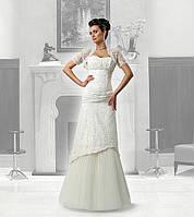 Свадебное платье «RACHELE» из гипюра, отделанное бисером и пайетками