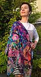 10545-14, павлопосадский платок шерстяной (разреженная шерсть) с швом зиг-заг, фото 4