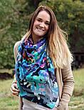 10545-14, павлопосадский платок шерстяной (разреженная шерсть) с швом зиг-заг, фото 5