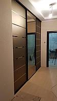Двери-купе с зеркалом бронза