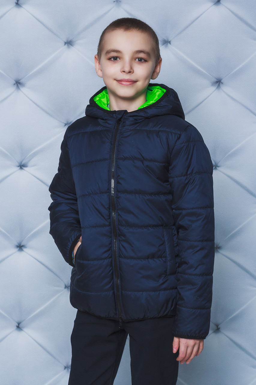Куртка для мальчика демисезонная темно-синяя