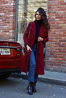 Кашемировое пальто женское с поясом