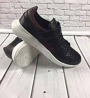 850293e1b19 Модные мужские кроссовки 2019 GROSS кожа черные GR0039