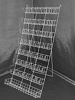 Стойка (дисплей) восьмиполочная напольно-подвесная для семян