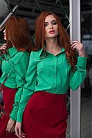 Рубашка женская молодежная бенгалин в 11 расцветках АНД174, фото 1