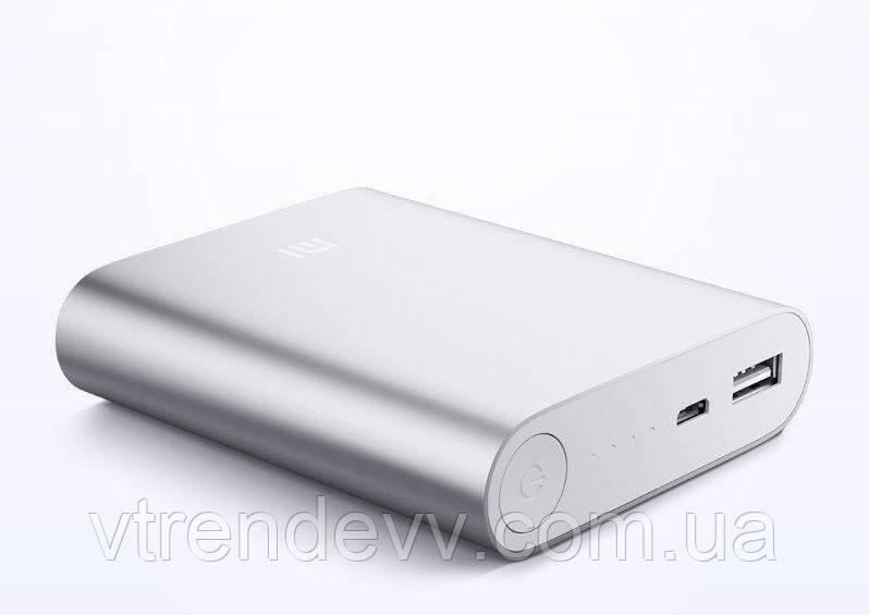 Внешний аккумулятор Power Bank Xiaomi 10400 mAh серебро
