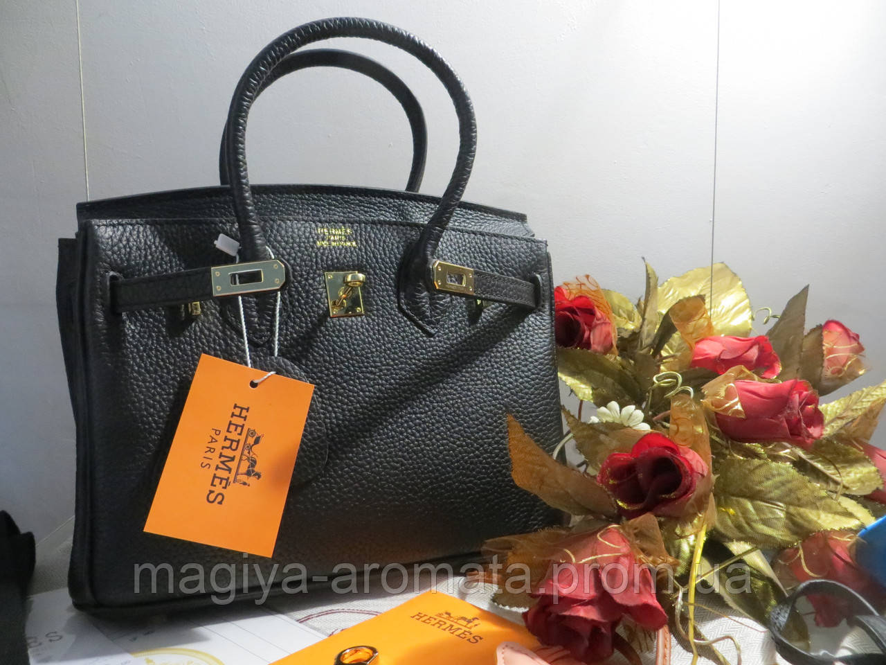 18e6cf539f07 Женская сумка от Hermes Birkin 20 см черная шикарная сумка Original quality,  цена 14 062,50 грн., купить в Киеве — Prom.ua (ID#911263631)