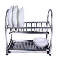 Сушилка для посуды 40*40* 26 см (нержавейка)