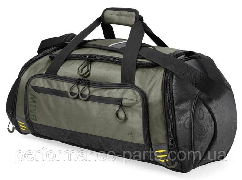 Сумка спортивная BMW Active Sportsbag Functional 80222446007 . Оригинал. Серо-чорного цвета.