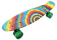 Скейт Пенни борд Penny Board Ultra Led 22 - Пенні борд Радуга 54 см