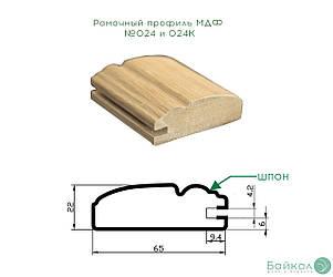 Рамковий профіль МДФ №024 і 024 до (коса) шпонований 22 мм 2,8мх60 мм
