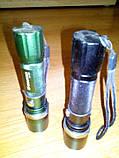 Ліхтар CREE Q8 тактичний 18650, акумулятори ААА, фото 3