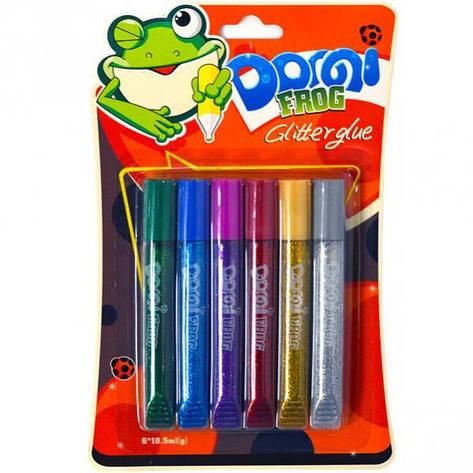 Клей с блёстками 10,5 мл «Dorgi frog» 6 цветов GG-001, фото 2