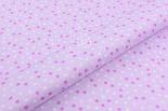 """Ткань хлопковая """"Мелкие звёздочки"""" бело-сиреневые, №1970, фото 4"""