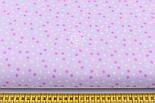 """Ткань хлопковая """"Мелкие звёздочки"""" бело-сиреневые, №1970, фото 6"""