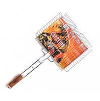Решетка для барбекю, большая решетка для гриял  64х31х26х6,5 см