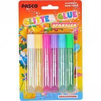 Клей с блёстками 10 мл «Pasco» 6 цветов F-019–08