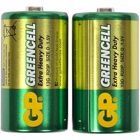 Батарейка GP 13 G-S2 солевая R20, D     GP-000072