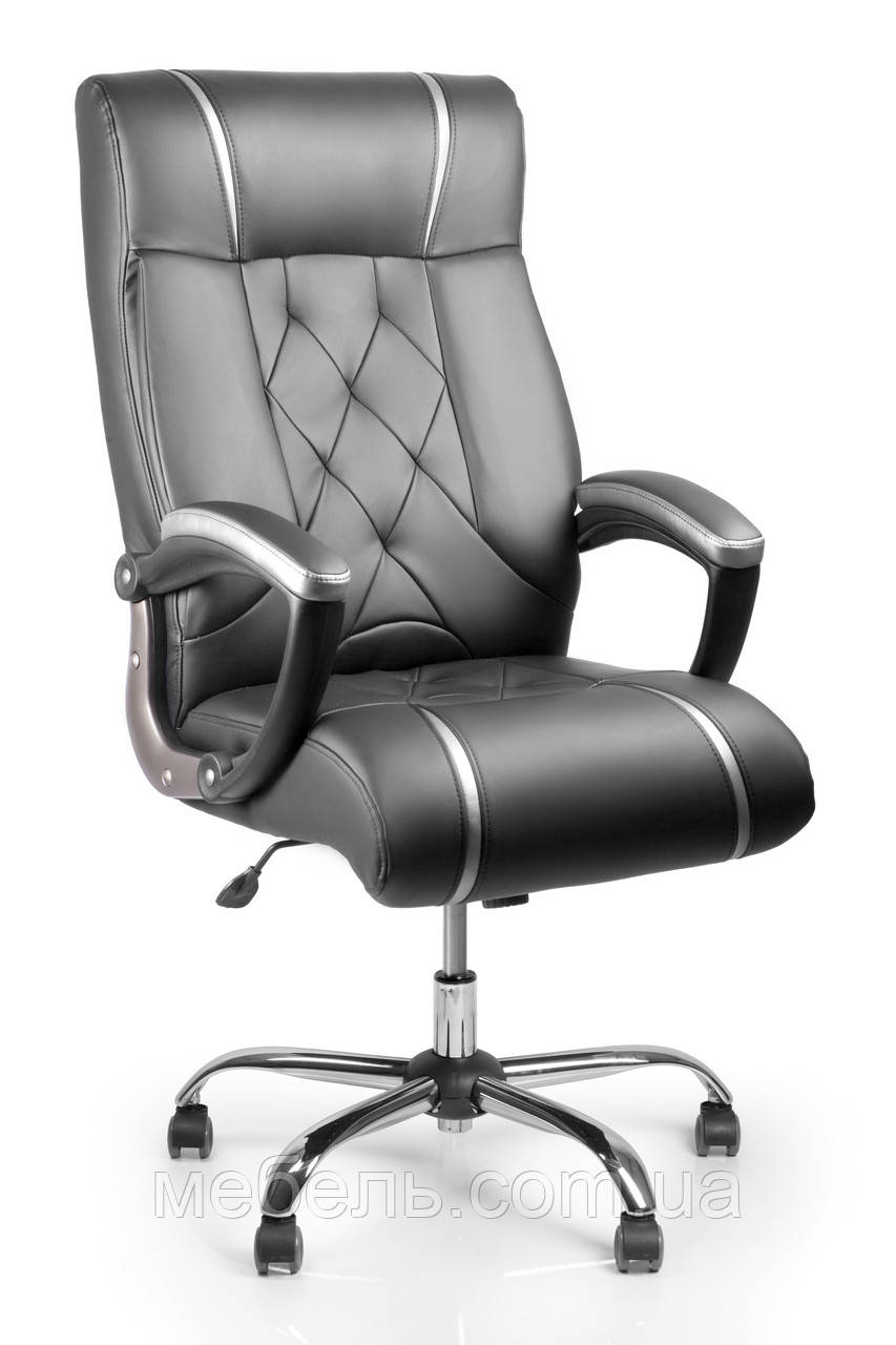 Лучшее офисное кресло на хром.крестовине Barsky Design Chrome BDchr-01