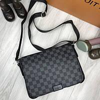 775f0d1936bc Трендовая женская сумка мессенджер Louis Vuitton серая кожа PU через плечо  унисекс LV Луи Виттон реплика