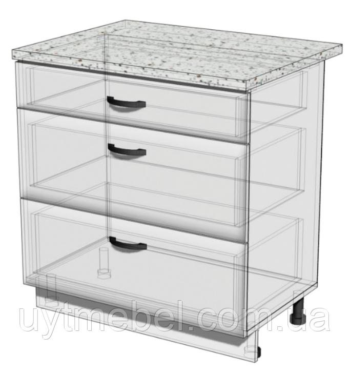 Кухня Хай-тек 600 НШ Т-2879 белый/глян. перламутр (Комфорт)