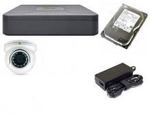 Комплект видеонаблюдение  AHD Partizan 1 камеры 1080p c установкой