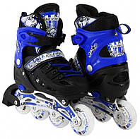Раздвижные роликовые коньки Scale Sport - Синие 39-42 р. (rls11-3)