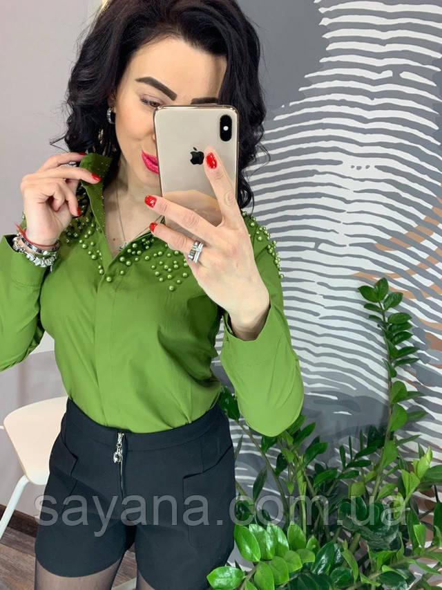 блузка женская с жемчужинами опт