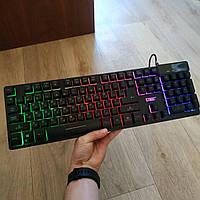 Игровая клавиатура с подсветкой UKC ZYG-800 геймерская keyboard USB проводная
