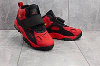 Кроссовки А 321-8 (Nike AirMax) (весна-осень, мужские, кожа прессованая, красно-черный), фото 1