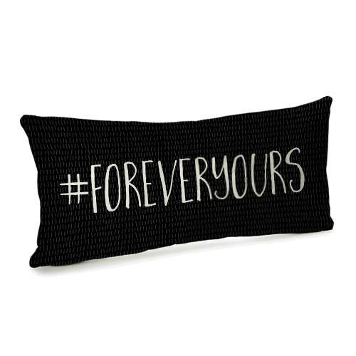 Подушка бархатная 50х24 #foreveryours (52BP_17L004)