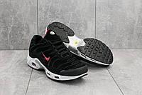 Кроссовки G 5068-3 (Nike Air Max Plus TN) (весна-осень, мужские, замш, черный), фото 1