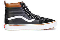 Кеды мужские Vans Sk8-Hi Black/Brown/White (Реплика ААА класса)