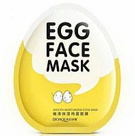 Тканинна маска для обличчя яєчна Bioaqua Facial Egg Face Mask, фото 1
