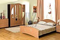 Кровать Омега венге м./штрокс беж (Модерн)