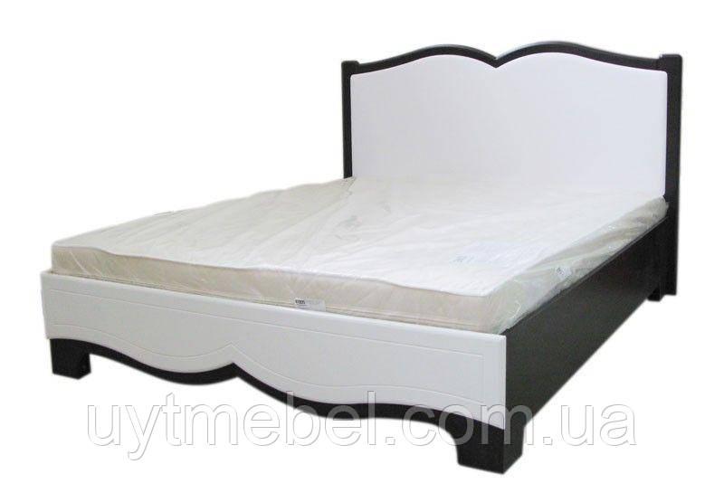 Ліжко Тіффані + каркас Стандарт 1,6 венге/білий глянець (Просто Меблі)