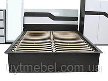 Ліжко Ніколь 1600 +вклад венге/білий глян. (Просто Меблі)