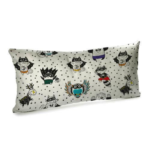 Подушка для дивана бархатная Супергерои 50x24 (52BP_18L010)