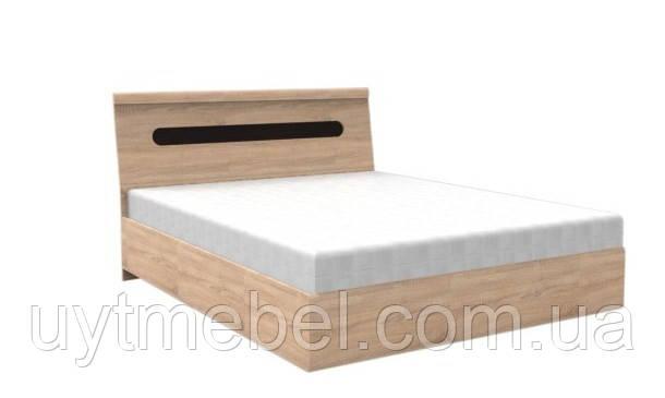 Ліжко Арізона 1600+каркас Стандарт на підйом.хутро дуб сонома (Просто меблі)