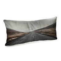 Подушка для дивана бархатная Прямая дорога 50x24 (52BP_ORG004)