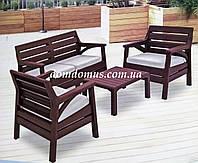 "Комплект садовой мебели ""Miami Set"" Irak Plastik, Турция (стол, 2 кресла, софа 2-х местн.)"