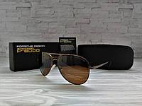 Очки мужские солнцезащитные полароид  bronze (реплика)