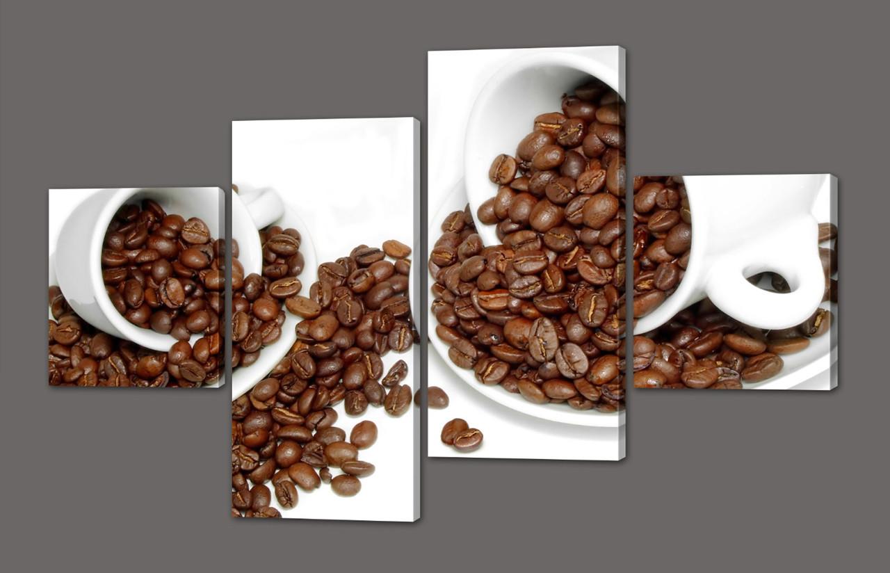 Модульная картина Зерна кофе 116х74 см Код: 569.4к.116