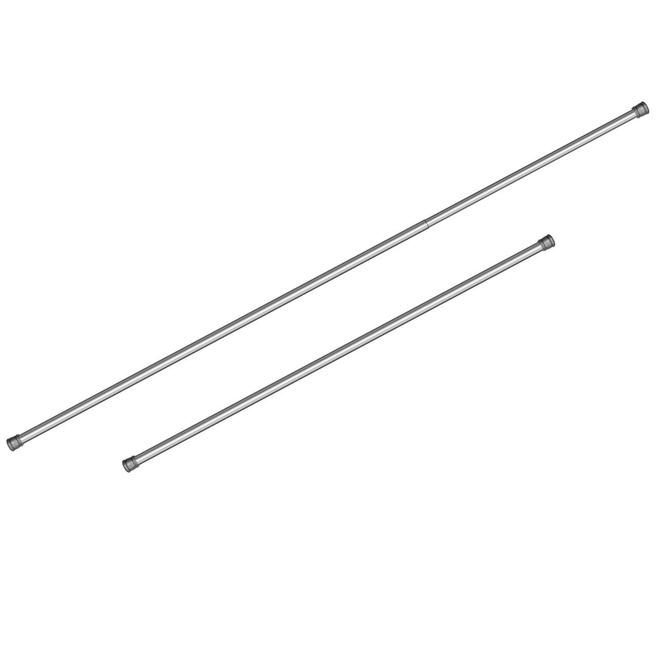 Телескопическая штанга для шторы в ванную комнату Tatkraft 140 х 260 см Серебро 17412, КОД: 145351