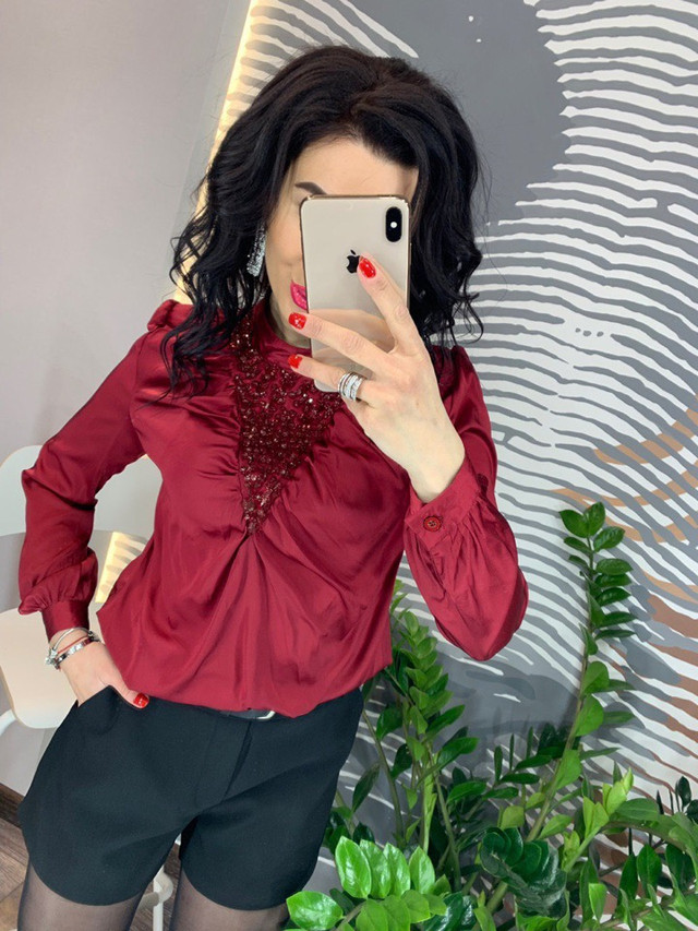 блузка женская со стразами опт