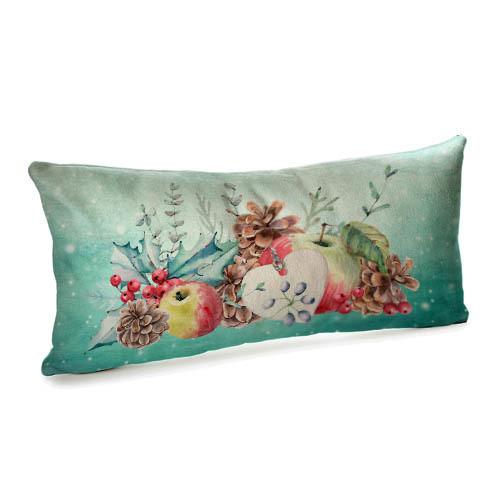 Подушка для дивана бархатная Новогодний декор 50x24 см (52BP_17NG008)